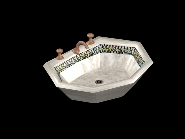 moroccan hexagonal sink