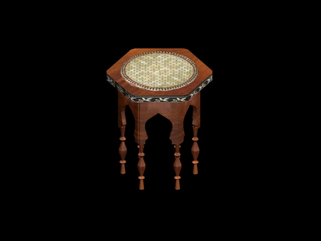 moroccan hexagonal endtable