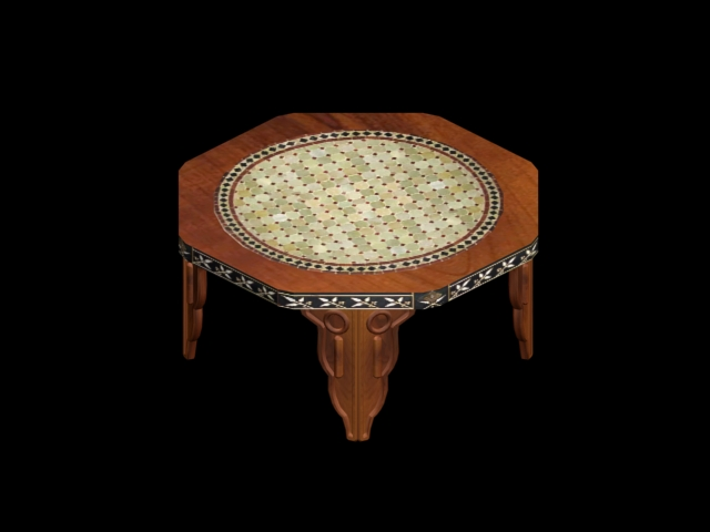moroccan octagonal table