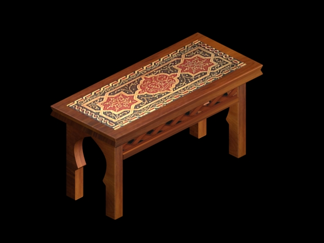 moroccan desk-table