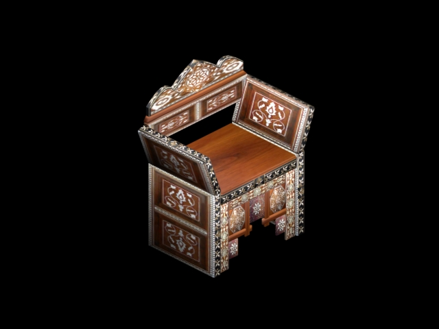 moroccan throne chair