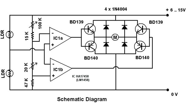 sun tracker schematic
